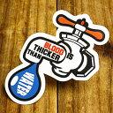 ショッピングデイトナ ステッカー 車 アメリカン おしゃれ バイク ヘルメット かっこいい ことわざ カーステッカー 蛇口 「血は水より濃い」 【メール便OK】_SC-PS105-SXW