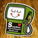 ステッカー 車 アメリカン 世田谷ベース おしゃれ バイク ヘルメット かっこいい カーステッカー シックスティーワット SIXTY WATT SERVICE&SUPPORT 【メール便OK】_SC-SCD08-SXW
