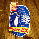 ショッピング シックスティワット(SIXTY WATT)ステッカー(シール、デカール)/SCD-05/TIRE AD カーステッカー_SC-SCD05-SXW