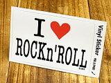 I LOVE 〜 ステッカー(シール、デカール)/「I LOVE ROCK''n ROLL(私はロックンロールを愛しています。)」_SC-IL001-GEN