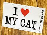 I LOVE 〜 ステッカー(シール、デカール)/「I LOVE MY CAT(私は私のネコを愛しています。)」(P25Jan15)_SC-IL032-GEN