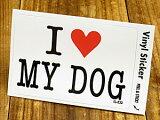 I LOVE 〜 ステッカー(シール、デカール)/「I LOVE MY DOG(私は私の犬を愛しています。)」_SC-IL033-GEN