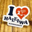 ショッピングハワイアン ステッカー ハワイアン 車 アメリカン おしゃれ バイク ヘルメット かっこいい カーステッカー ハレイワスーパーマーケット アイラブ 【メール便OK】_SC-HSM003-SXW