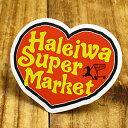 ショッピングハワイアン ステッカー ハワイアン 車 アメリカン おしゃれ バイク ヘルメット かっこいい カーステッカー ハレイワスーパーマーケット ハート 【メール便OK】_SC-HSM011-SXW