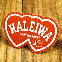 ショッピングハワイアン ステッカー ハワイアン 車 アメリカン おしゃれ バイク ヘルメット かっこいい カーステッカー ハレイワスーパーマーケット HALEIWA 【メール便OK】_SC-HSM014-SXW
