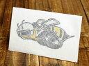ステッカー 車 ダッジ アメリカン おしゃれ バイク ヘルメット かっこいい アメ車 カーステッカー 復刻 DODGE スーパー ビー SUPER BEE 転写式 左向き 【メール便OK】_SC-DD245-MON