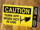 ショッピング節電 ステッカー 節電 アメリカン インテリア サイン 表示 案内 注意 警告 おしゃれ かっこいい 「注意、使わない時は消しましょう」 【メール便OK】_SC-USSL001-SXW