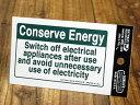 ショッピング節電 ステッカー 節電 アメリカン インテリア サイン 表示 案内 注意 警告 おしゃれ かっこいい 「使い終わったらOFFにし節電を心がけましょう」 【メール便OK】_SC-USSL003-SXW