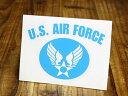 ショッピングエアフォース ステッカー 車 ミリタリー US AIR FORCE アメリカ空軍 世田谷ベース アメリカン おしゃれ バイク かっこいい カーステッカー 転写 タイプC ライトブルー サイズS 【メール便OK】_SC-AF005LB-TST