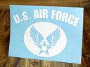 ショッピングエアフォース ステッカー 車 ミリタリー US AIR FORCE アメリカ空軍 世田谷ベース アメリカン おしゃれ バイク かっこいい カーステッカー 転写 タイプC ホワイト サイズL 【メール便OK】_SC-AF006WH-TST