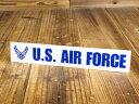 ショッピングFORCE ステッカー 車 ミリタリー US AIR FORCE アメリカ空軍 世田谷ベース アメリカン おしゃれ バイク かっこいい カーステッカー 転写 タイプF ブルー サイズS 【メール便OK】_SC-AF011BL-TST