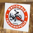 ステッカー 車 アメリカン おしゃれ バイク ヘルメット かっこいい カーステッカー 復刻 NHRA 全米ホットロッド協会 NATIONALS INDIANAPOLIS 1966 【メール便OK】_SC-DZ286-MON