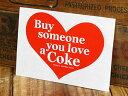 コカコーラ ステッカー グッズ 車 アメリカン おしゃれ バイク ヘルメット かっこいい カーステッカー Buy someone you love a Coke 【メール便OK】_SC-CCBA14-LFS