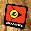 ステッカー 車 アメリカン おしゃれ バイク ヘルメット かっこいい カーステッカー パロディ DO LOVE 【メール便OK】_SC-LS015-SXW