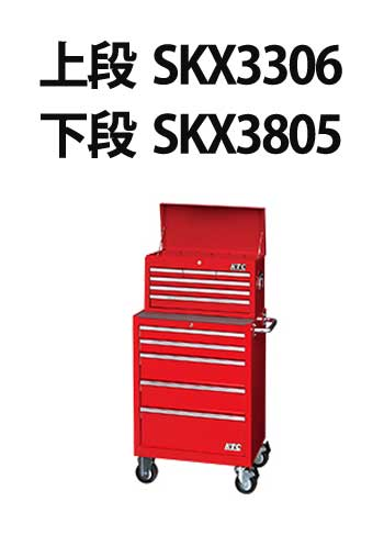 SKX3805 KTC 新型 ローラーキャビネット (5段5引出し)