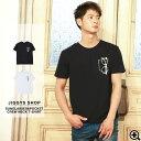 ◆サングラス&ポケットクルーネックTシャツ◆Tシャツ メンズ 半袖 カットソー 五分袖 半袖T