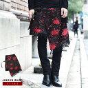 ◆SEANA(シーナ)ブラッディジャガードアシメキルト◆ラップスカート 巻きスカート メンズ ジャガード ヴィジュアル系 V系 ビジュアル系 モード系 パンク ロック ファッション 服 ボトムス