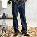 ◆roshell(ロシェル)デニムルーズペインターパンツ◆ワイドパンツ デニム メンズ ジーンズ パンツ ワイド きれいめ おしゃれ ボトムス