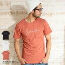◆「Surfer」ロゴTシャツ◆Tシャツ メンズ おしゃれ ティーシャツ 半袖 カットソー トップス メンズファッション 春 春服 春物 クルーネック 綿 綿100% ロゴ ホワイト ブラック ピンク