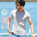 Tシャツ メンズ 無地◆コットン クルーネック 半袖Tシャツ...