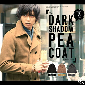 P coat mens ◆ (Rochelle) Roshell Melton coat ◆ short-length schott long camel brother series Men's Pcoat peacoat Navy black coat and brother Takeshi slender Safari men's fashion!-large size outerwear winter winter %