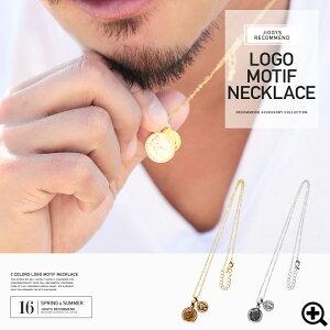 ネックレス シンプル ロゴモチーフネックレス カップル カジュアル チェーン アクセサリー ファッション レディース