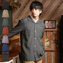 ◆NIIRUS(ニールス)ポリトロ オープンカラーシャツ◆長...