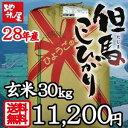 あす楽 送料無料 玄米(精米可) 30kg 1本売り! 平成28年産 新米 コシヒカリ天空の城 竹田城 コウノトリで有名な 西日本屈指の産地 兵庫県 但馬産 食味 特A 米 05P03Dec16