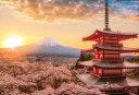 YAM-13-05 風景 春暁の富士山と桜 (山梨) 1000ピース ジグソーパズル やのまん パズル Puzzle ギフト 誕生日 プレゼント