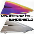 NINJA250R 08-12年 ダブルバブル スクリーン ミラーコート仕様 レインボー仕様 マジョーラ ニンジャ250R