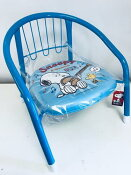 【新入荷】【人気商品】SNOOPYスヌーピー(ブルー)キッズ/ベビーチェア 背もたれ有女の子 男の子 豆イス 椅子 キャラクター キッズチェアー キッズチェア