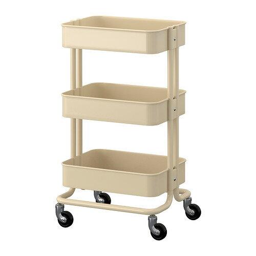【送料無料】IKEA(イケア)RASKOGワゴン/ベージュキャスター付きで移動も簡単ベッドサイドテーブル ロースコグ 00271893