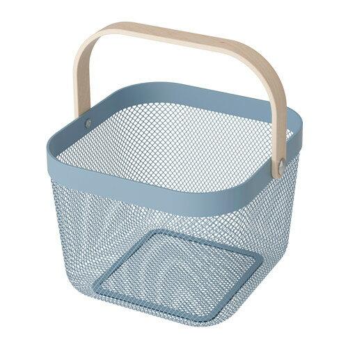 IKEA(イケア)RISATORP バスケット ブルー 25x26x18 cm
