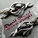 It is the again re-arrival once again! [free shipping] wing ◇ black star ◇ silver 925/ pendant top silver 925/ necklace / [_ Kinki tomorrow for comfort] of 50%OFF [devil & angel] angel and the devil