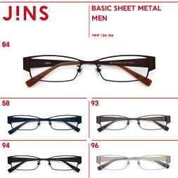 シート状に形成したシャープなメタルフレームのメガネ【MENBASICSHEETMETAL】シリーズ-JINS(ジンズ)