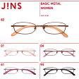 シンプルでスマートなメタルフレームのメガネ【WOMEN BASIC METAL】シリーズ-JINS ( ジンズ )