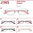 細身のメタルフレームとテンプルデザインが上品なメガネ【WOMEN BASIC METAL】シリーズ-JINS ( ジンズ )