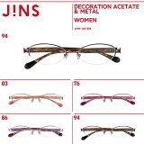 ��WOMEN DECORATION ACETATE & METAL�ۥ������ �ǥ��졼����� �����ơ��ȡ��᥿��- JINS �� ���� �ᥬ�� �᤬�� ��� ��