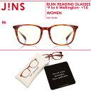 【BIJIN READING GLASSES -9 to 5 Wellington-】美人リーディンググラス ナイントゥーファイブウエリントン+1.00 老眼鏡(オリジナルセリート&ケース付き)-JINS(ジンズ)
