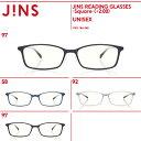 【JINS READING GLASSES -Square-】( 2.00)老眼鏡 リーディンググラス-JINS(ジンズ)