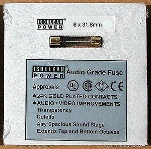 A.G.FUSE6X31.8/10A アイソクリーンパワー 高音質ヒューズ(1本)6x31.8mm、10.0A [AGFUSE6X31810A]【返品種別B】
