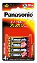 LR03XJ/4B パナソニック アルカリ乾電池単4形 4本パック Panasonic [LR03XJ4B]
