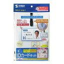 サンワサプライIDカードキット(横・ラミネート・ストラップ付)【税込】 JP-ID10 [JPID10] ...