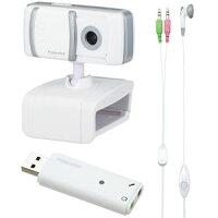 プリンストンテクノロジー イヤフォンマイク付き WEBカメラ(USBオーディオアダプタ付属)【税込】 PWC-130UAFS [PWC130UAFS]【でんき1001】