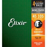 14077(ELIXIR)【】 エリクサー エレキベース弦(.045-.105)ロングスケール Elixir NANOWEB Medium / Long Scale [14077E