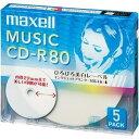 CDRA80WP.5S【税込】 マクセル 音楽用CD-R80分5枚パック [CDRA80WP5S]【返品種別A】【RCP】