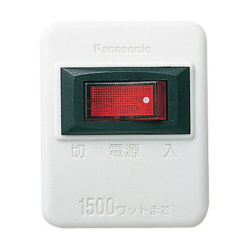WHS2001WP パナソニック スイッチ付タッ...の商品画像