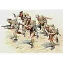 1/35 英・第8軍北アフリカ兵士5体・突撃シーン【MB3580】 マスターボックス [MB3580 イギリス キタアフリカヘイシ トツゲキ]【返品種別B】