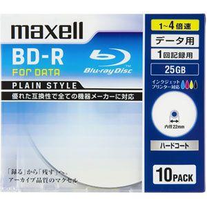 BR25PPLWPB.10S マクセル データ用 4倍速対応BD-R 10枚パック 25GB ホワイトプリンタブル maxell Plain style [BR25PPLWPB10S]【返品種別A】