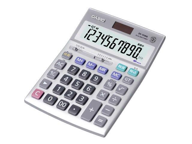 【エントリーでP5倍 8/20 9:59迄】DS-10WK-N カシオ 本格実務電卓 10桁